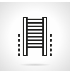 Climb wall bars simple line icon vector