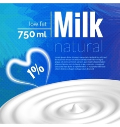 Milk design milk wave blue triangle background vector