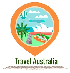 Australia travel badge vector