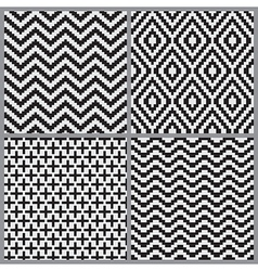 Abstract geometric tiling seamless pattern vector image vector image