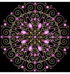 Background circular ornaments of precious stones vector