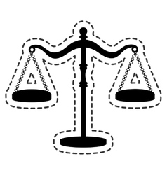 balance scale justice isolated icon vector image