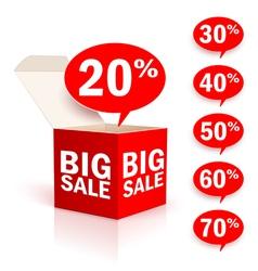 Big box sale vector image vector image