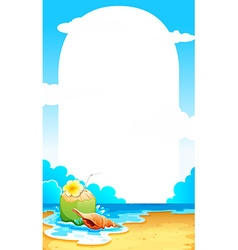 Border with beach background vector