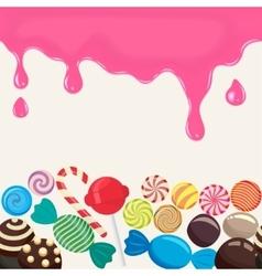 Candies lollipop vector