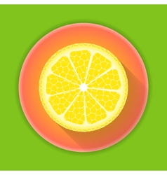 Citrus fruit lemon icon vector