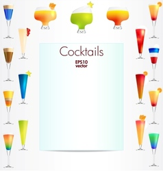 Cocktails backgound vector image vector image