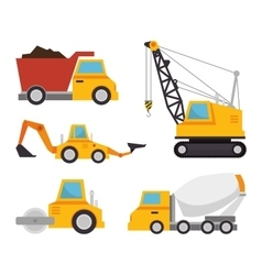 collection truck construction concept design vector image