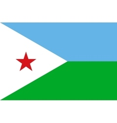 Flag of Djibouti correct size and colors vector image vector image