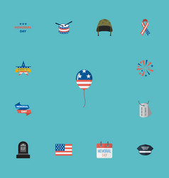flat icons decoration memorial day awareness and vector image vector image