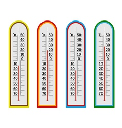 four thermometer vector image vector image