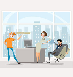 funny situation in the office vector image