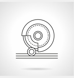 Grinding stone flat line icon vector