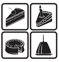 Icons cakes vector