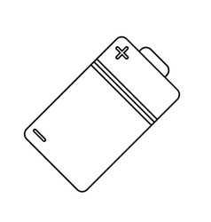 Isolated battery design vector