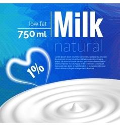 Milk design Milk wave blue triangle background vector image vector image