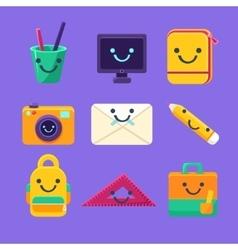 Office Desk Supplies Collection Of Characters vector image vector image