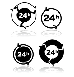 Round the clock vector image vector image