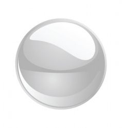 shiny sphere 02 white vector image