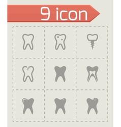 teech icon set vector image