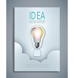 template for design flyer brochures vector image vector image