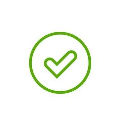 Tick green sign element vector