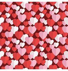 Valentine hearts pattern vector
