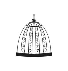 vintage bird cage vector image
