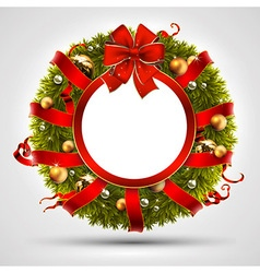 Decorative christmas wreath vector