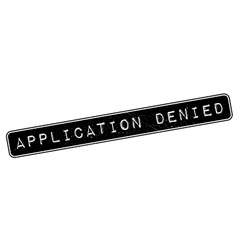Application denied rubber stamp vector