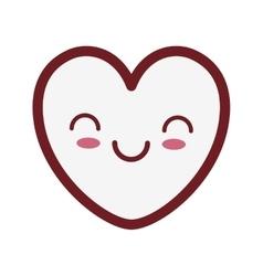 Kawaii heart love romance valentine day vector