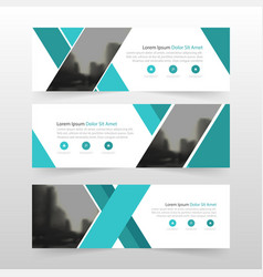 Blue corporate business banner template vector