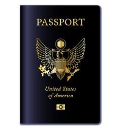 United states of america passport vector