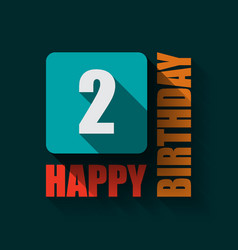 2 happy birthday background or card vector