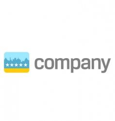 travel logo hotel rating icon vector image