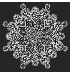 Ornamental round lace circle background vector image