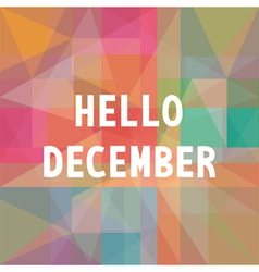 Hello december card1 vector