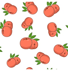 Seamless pattern of peach vector