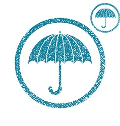 Umbrella simple single color icon isolated on vector