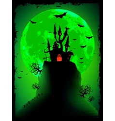 Scary halloween background vector