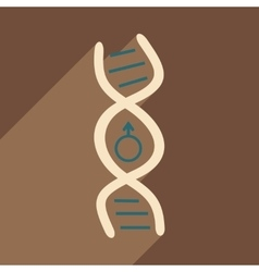 Flat with shadow icon and mobile application genes vector image