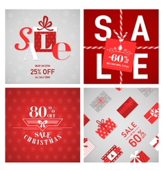 Christmas sale posters and banners vector