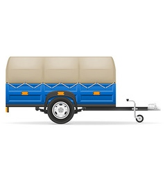 Car trailer 02 vector