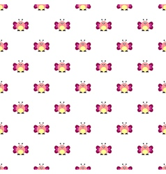 Pattern with comic butterflies vector