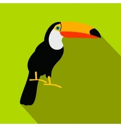 Toucan icon flat style vector