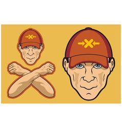 Baseball cap head vector