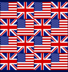 American and British seamless pattern vector image