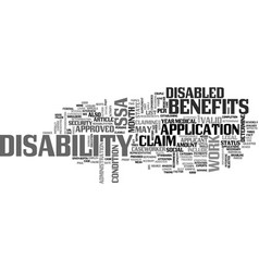 Are you entitled to claim disability benefits vector