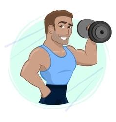 Athletic man vector image vector image