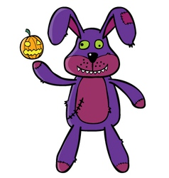 Bad Bunny puppet vector image